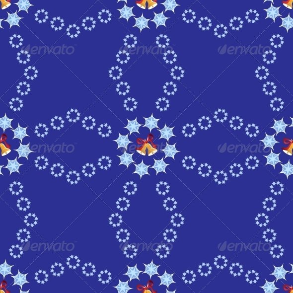 GraphicRiver Christmas Background with Bells and Snowflakes 6460208