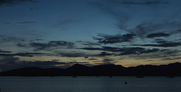 Zooming Out on Dawn at Langkawi Time Lapse 01