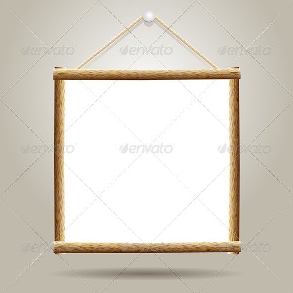 GraphicRiver White Board Hanging on a Nail 6460662