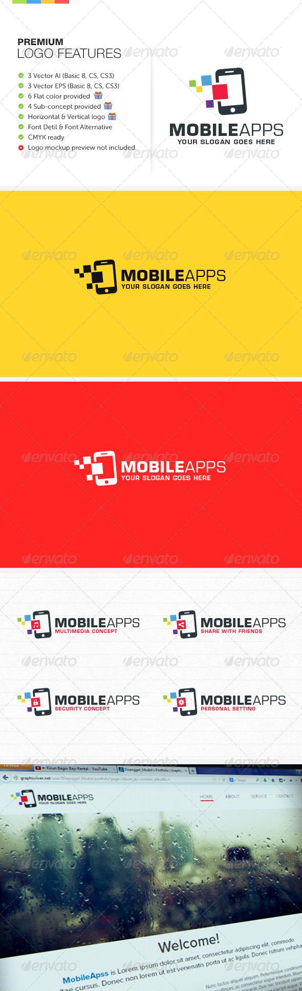 GraphicRiver Mobile Apps Logo 6460704