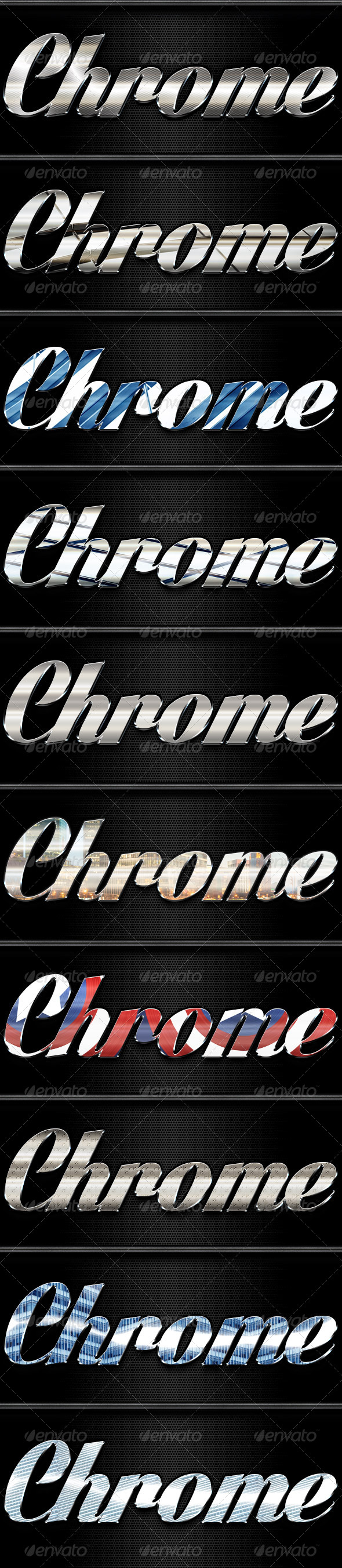 10 Chrome Styles - Text Effects Styles