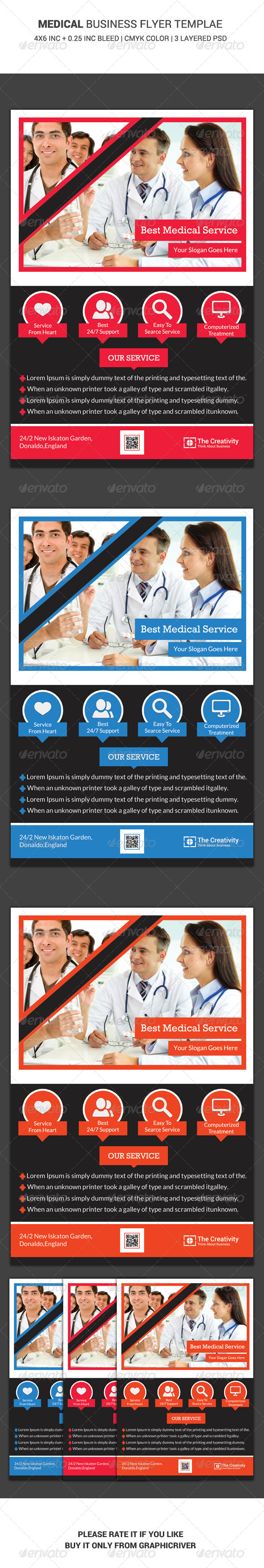 GraphicRiver Medical Business Flyer Template 6460787