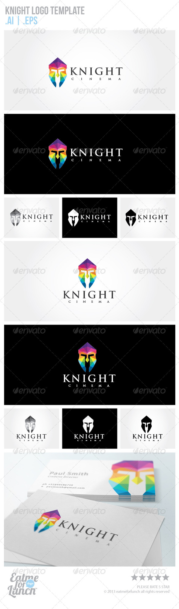 GraphicRiver Knight Logo Template 6460913