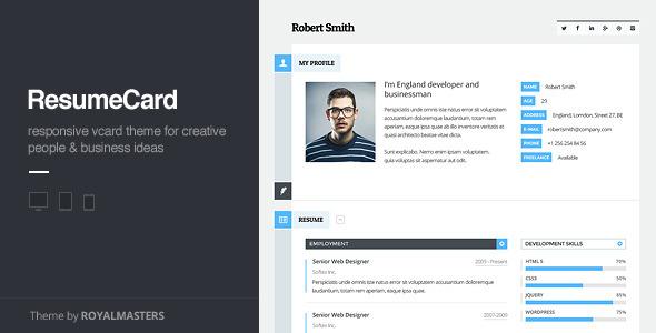 ThemeForest vCard Responsive WordPress Theme 6401204