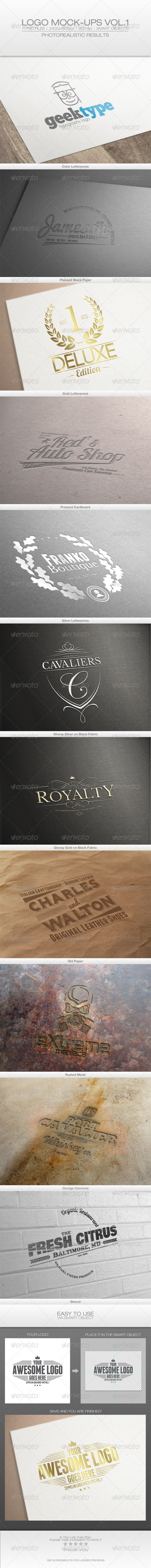 GraphicRiver Logo Mock-ups Vol.1 6461097