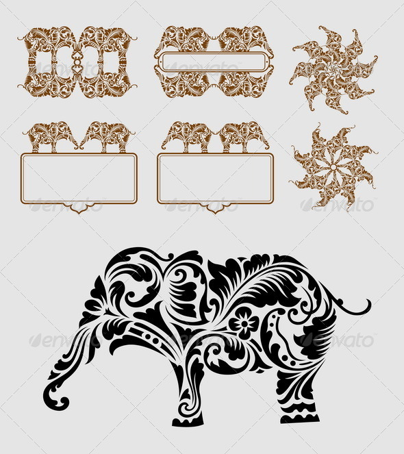GraphicRiver Elephant Element Decoration 6461201