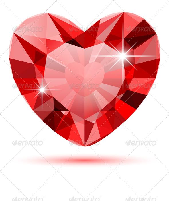 GraphicRiver Diamond Heart 6461224