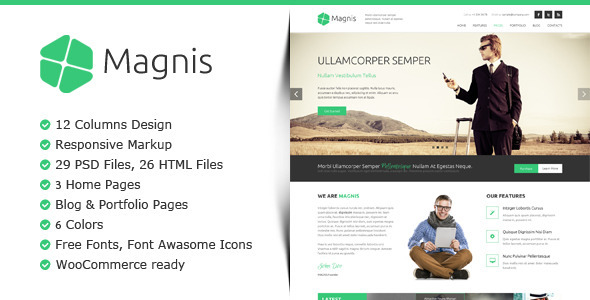 Magnis - Multipurpose HTML Template  - Corporate Site Templates