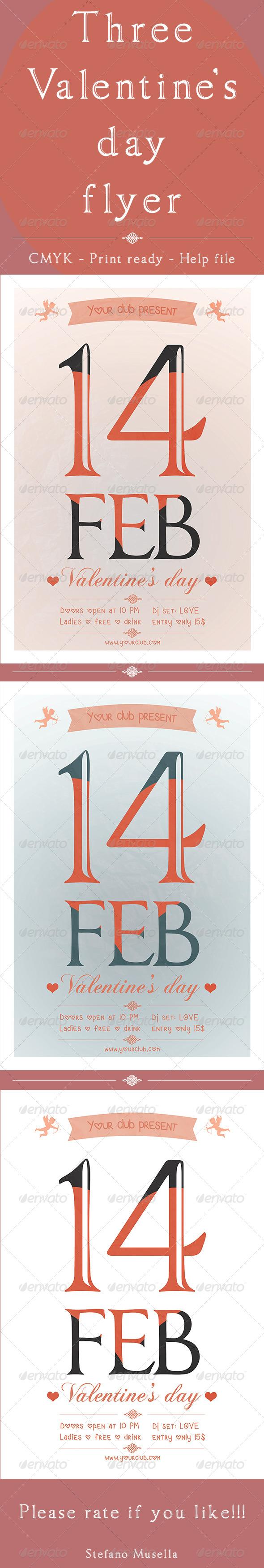 GraphicRiver Valentine s day flyer 6425408