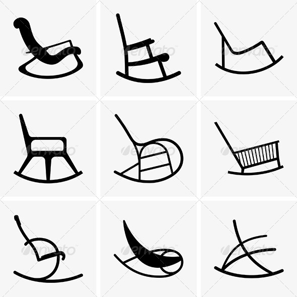 GraphicRiver Rocking Chairs 6461365