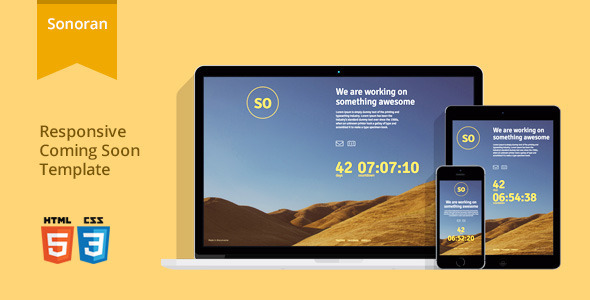 ThemeForest Sonoran Responsive Coming Soon Template 6446073