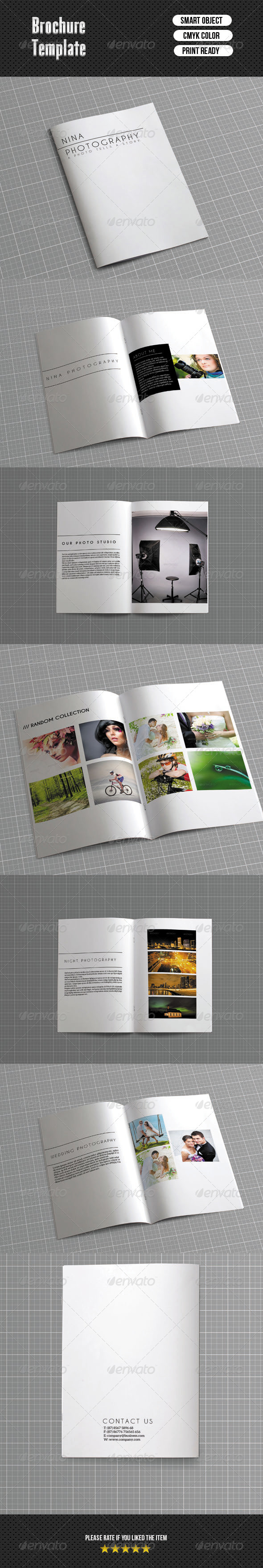 GraphicRiver Bifold Brochure-Photographer 6461469