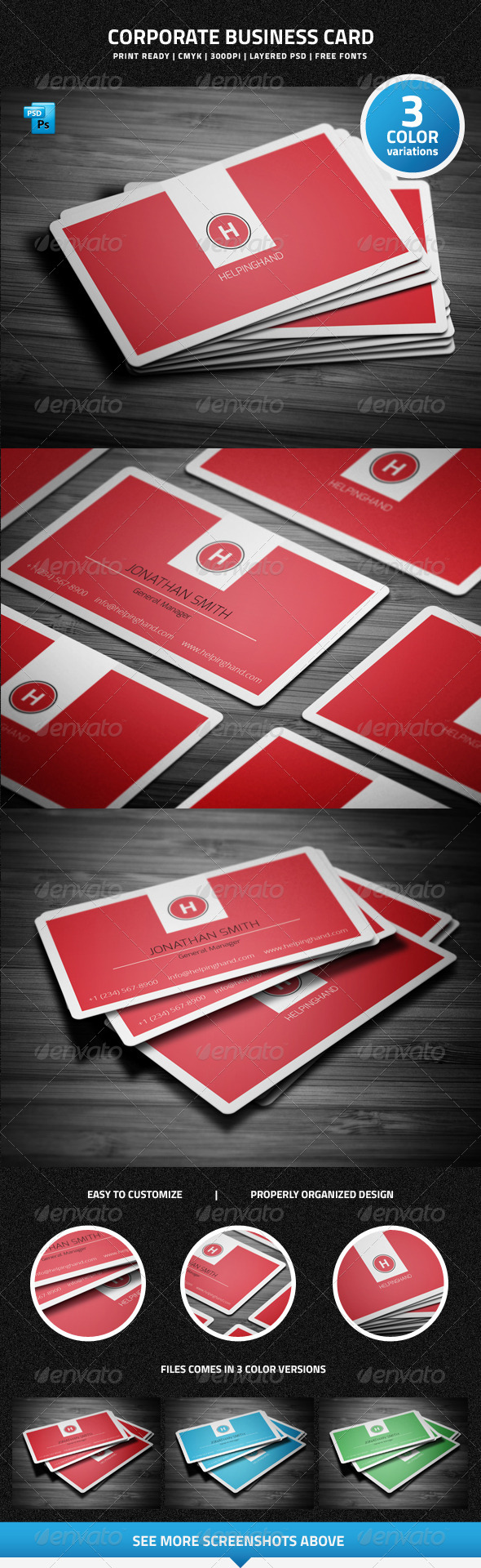 GraphicRiver Corporate Business Card 6421778
