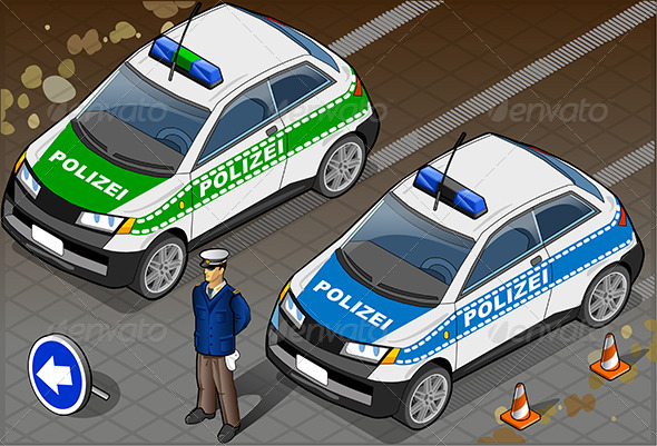 GraphicRiver Isometric German Police Car 6461983