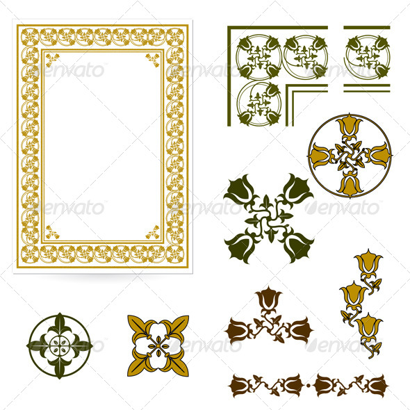 GraphicRiver Decorative Form of the Certificate or Diplomas 6461984