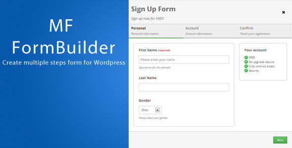 CodeCanyon MF FormBuilder for Wordpress 6462041