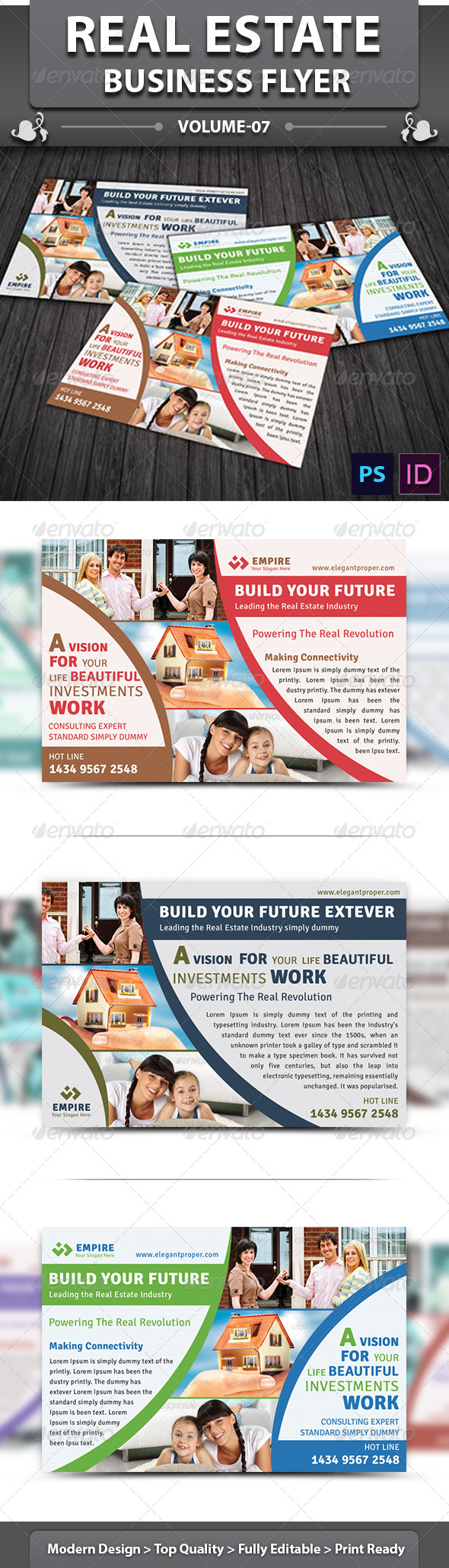 GraphicRiver Real Estate Business Flyer v 07 6462062