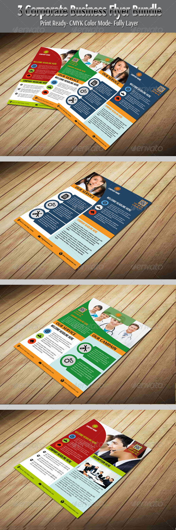 GraphicRiver 3 Corporate Business Flyer Bundle 6429231