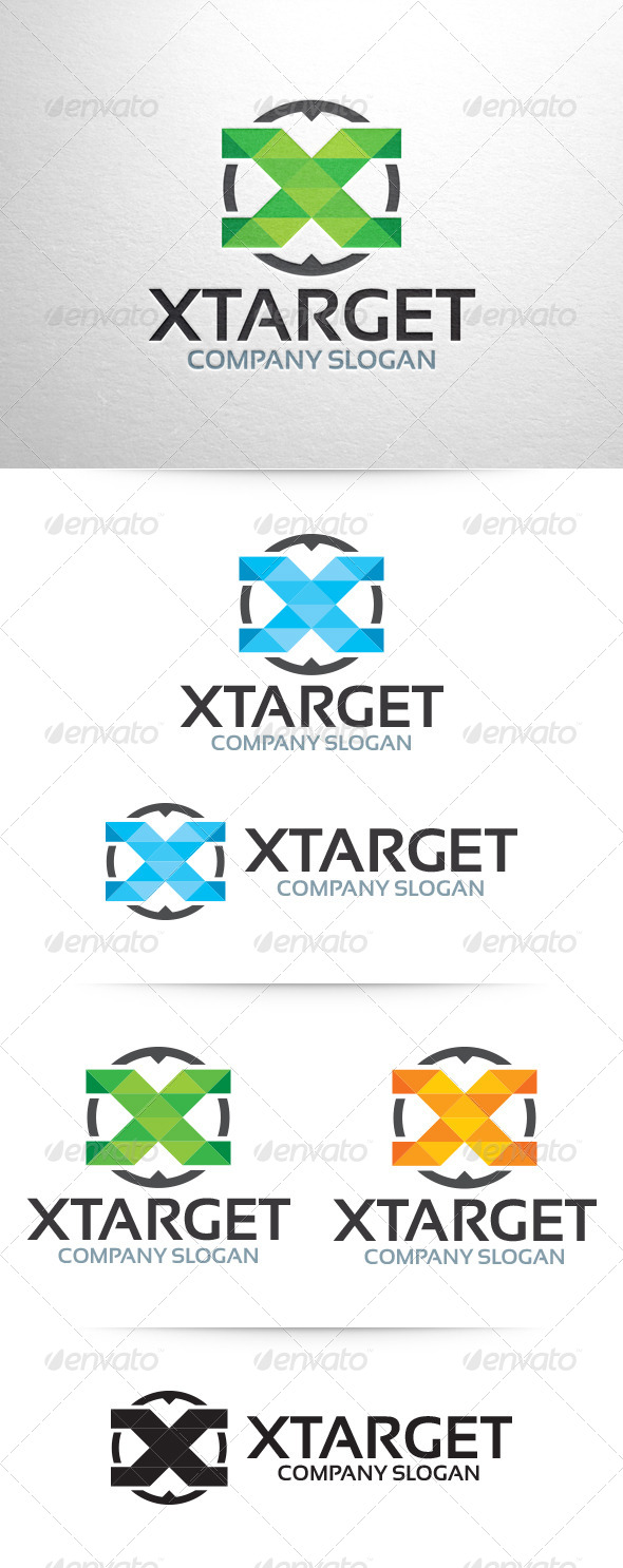 GraphicRiver X Target Letter X Logo 6462136