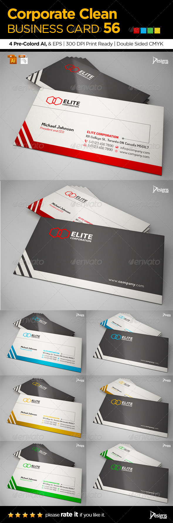 GraphicRiver Corporate Clean Business Card 56 6462183