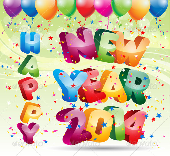 GraphicRiver 2014 Happy New Year 6462189
