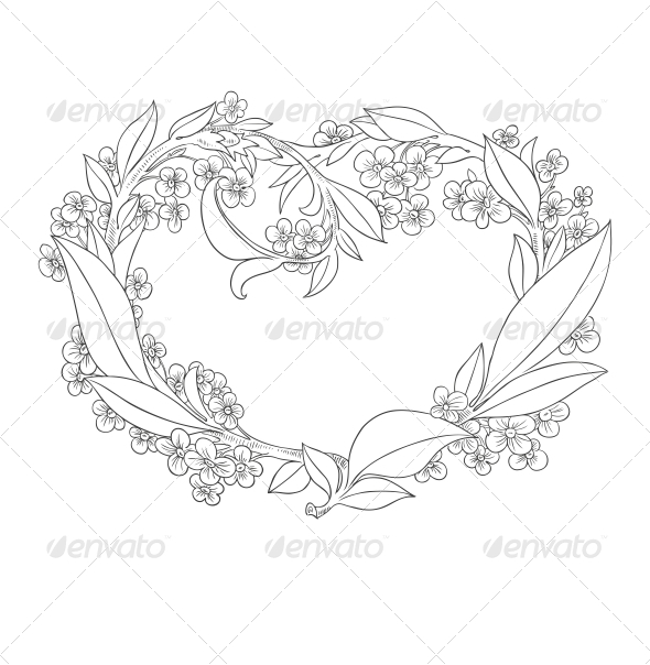 GraphicRiver Heart from Flowers 6462193