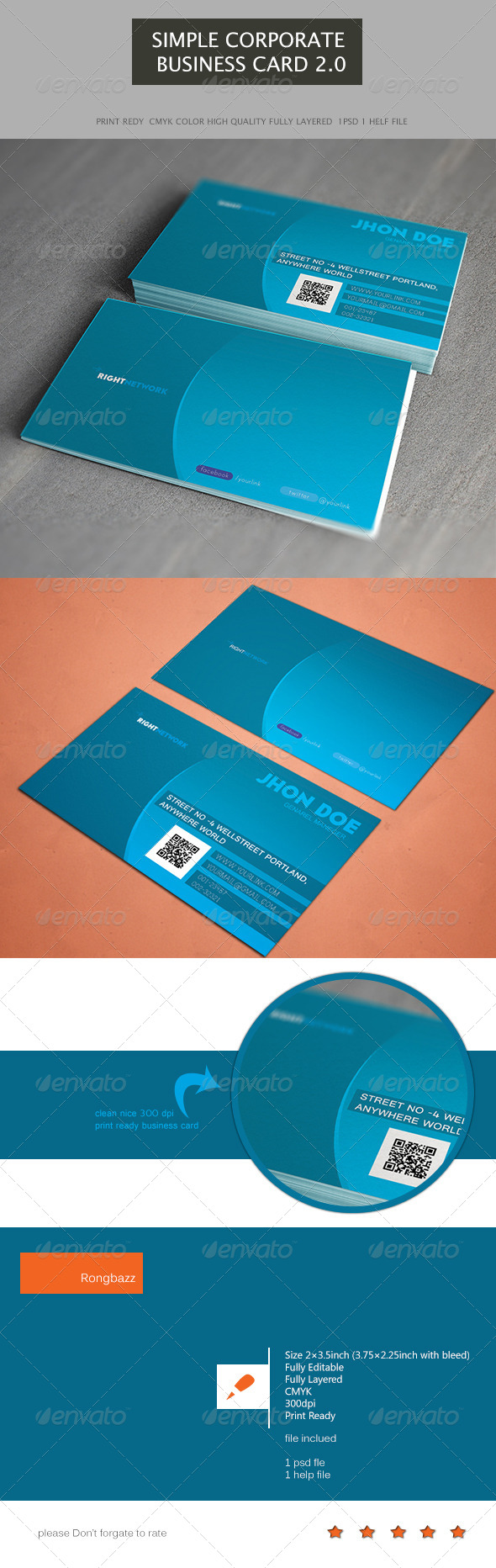 GraphicRiver Simple Corporate Business Card 2.0 6430659