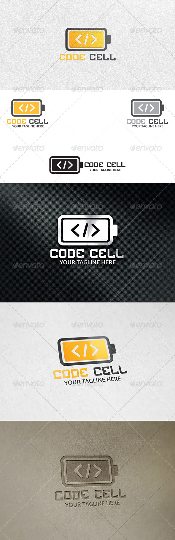 GraphicRiver Code Cell Logo Template 6462269