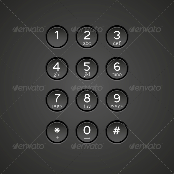 GraphicRiver Vector Phone Keypad Background 6462279