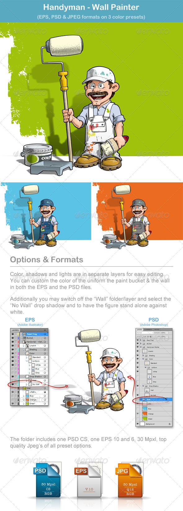 GraphicRiver Handyman Wall Painter 6449124