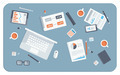 Business meeting flat illustration - PhotoDune Item for Sale