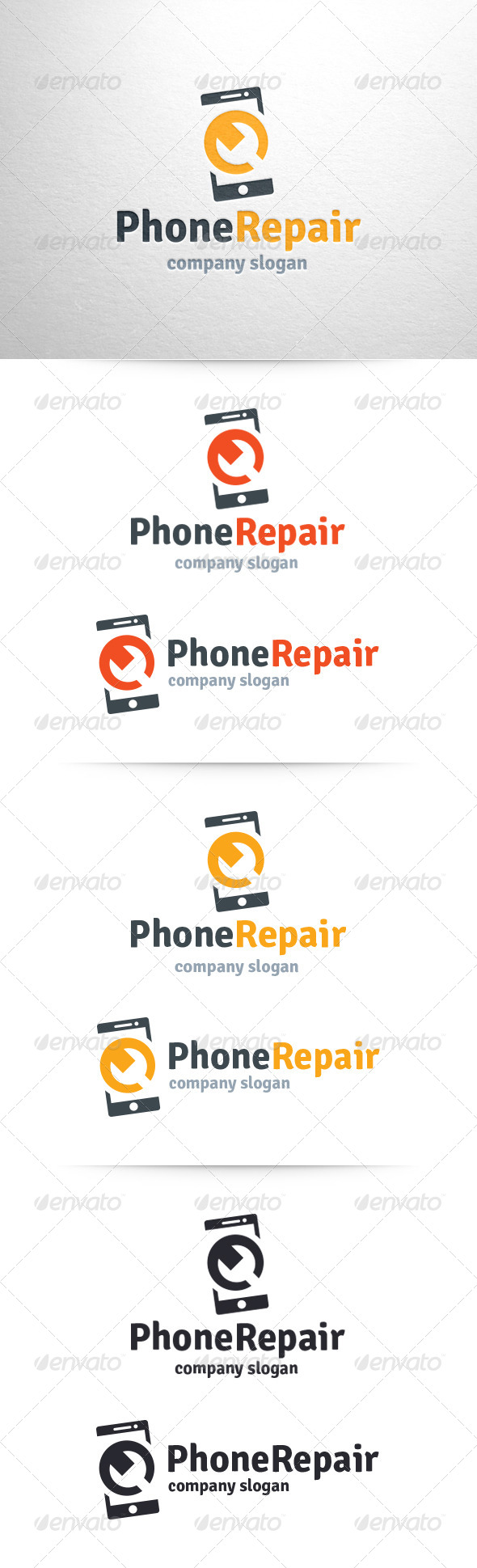 GraphicRiver Phone Repair Logo Template 6462834