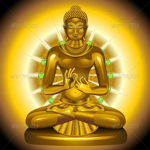 GraphicRiver Buddha Gold and Emeralds Statue 6462864