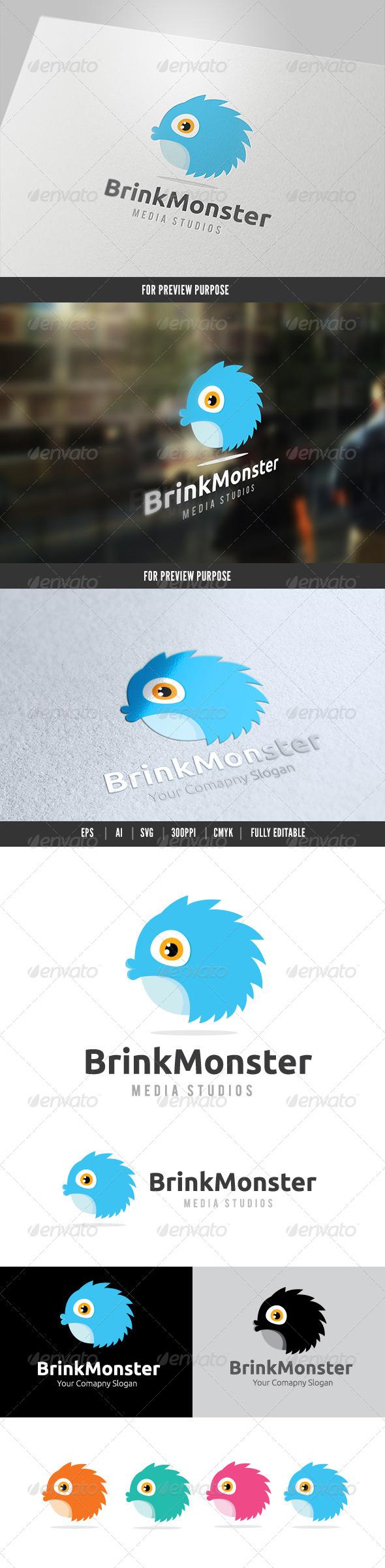 GraphicRiver Brink Monster Logo 6462873