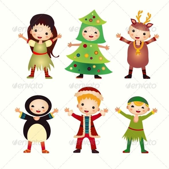 GraphicRiver Children in Costumes 6462886
