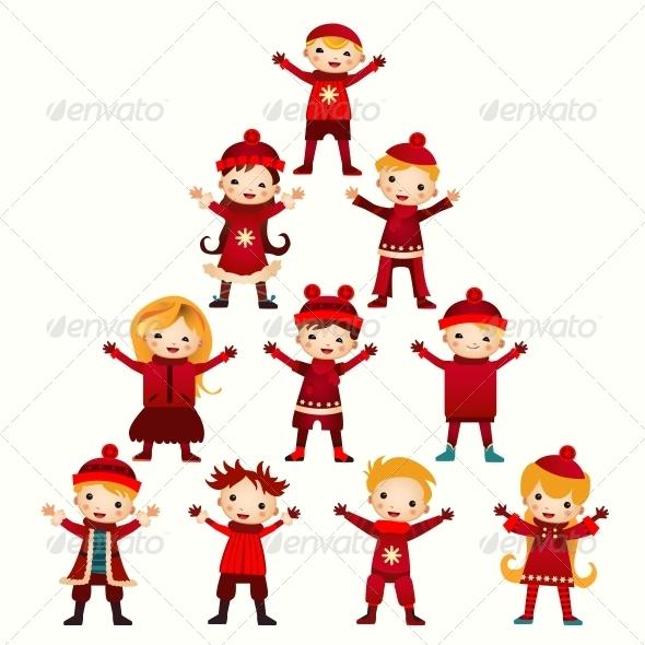 GraphicRiver Christmas Kids Tree 6462900