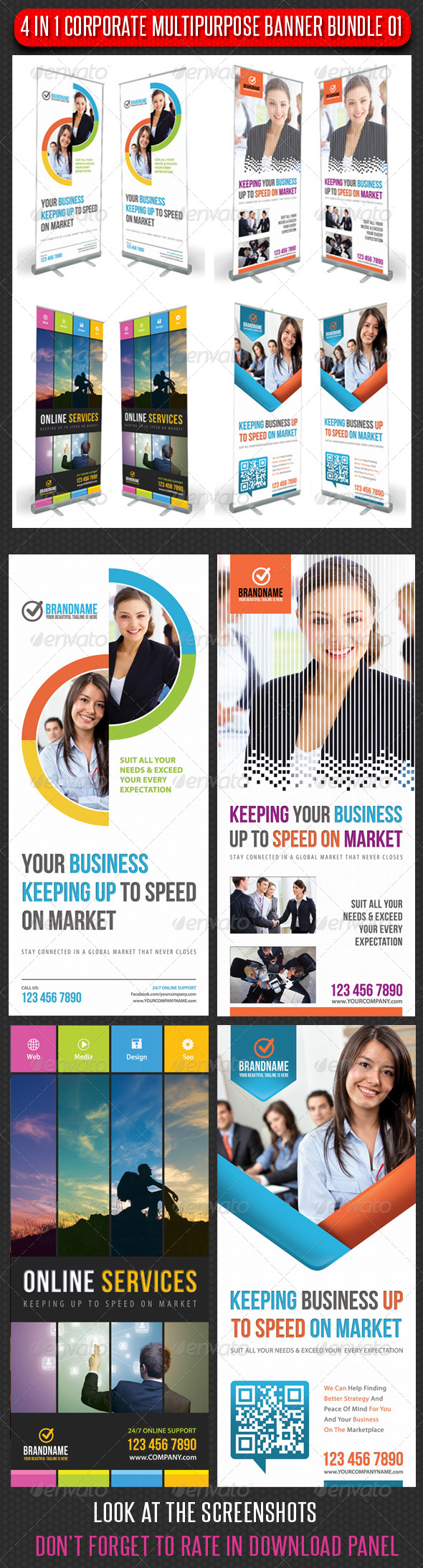 GraphicRiver 4 in 1 Corporate Multipurpose Banner Bundle 01 6462960