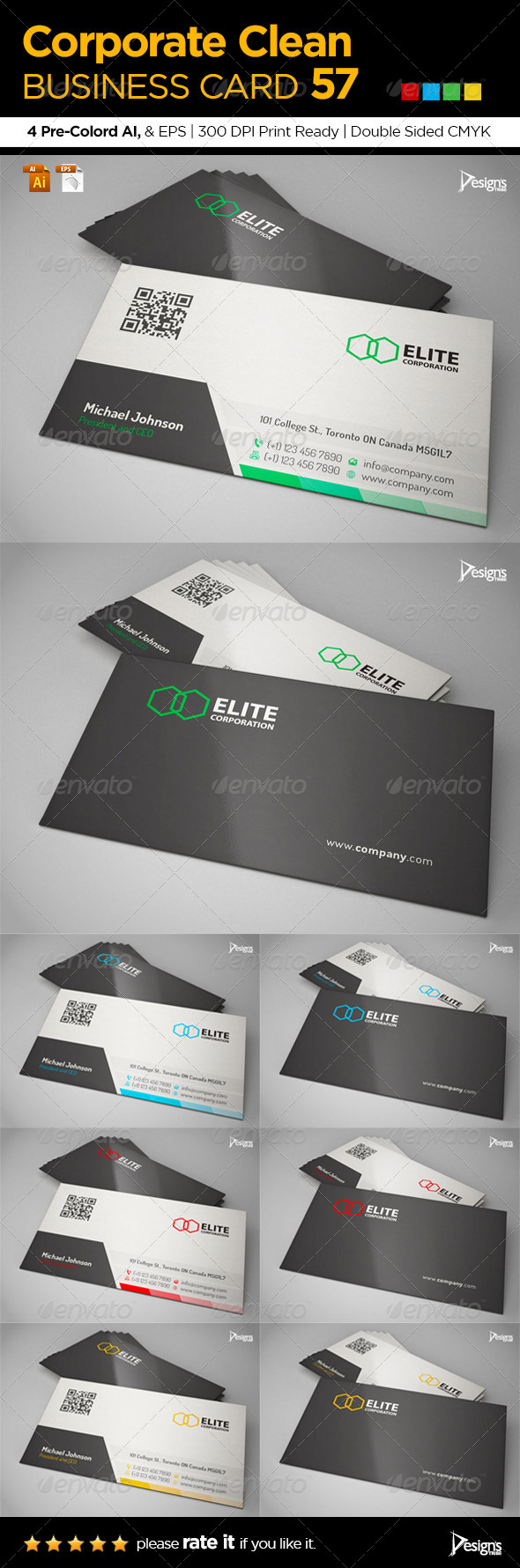 GraphicRiver Corporate Clean Business Card 57 6462963