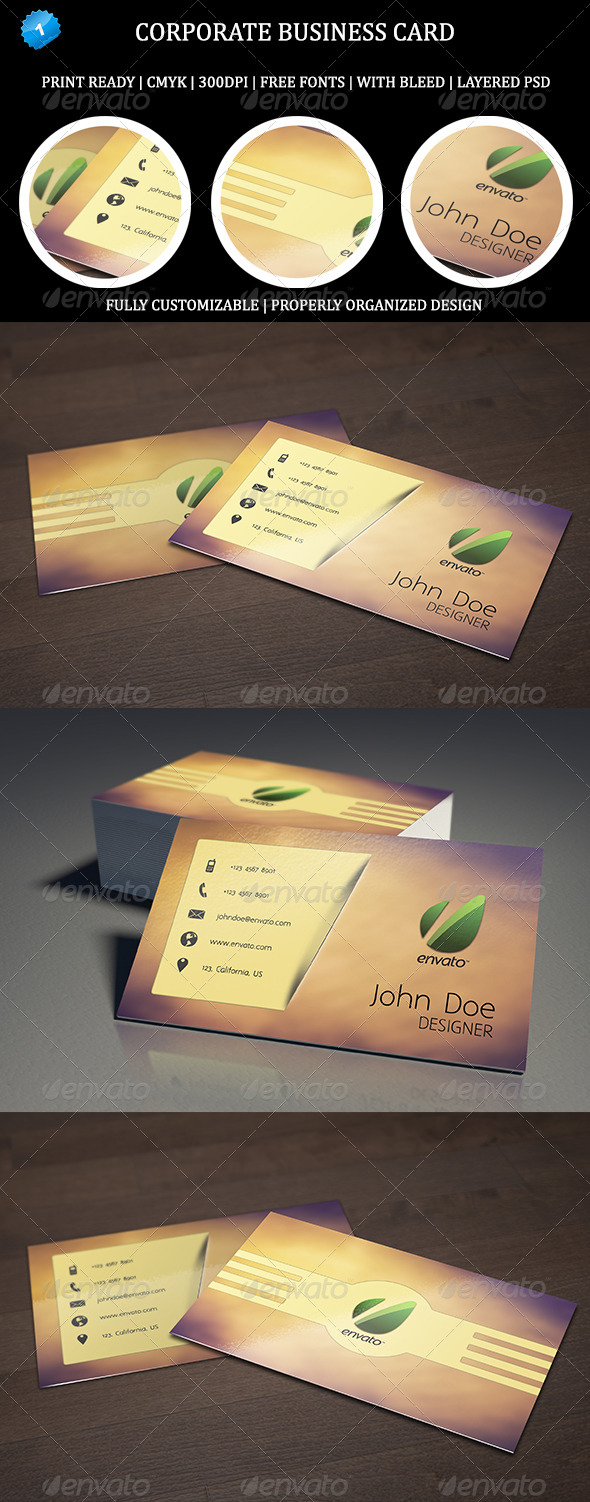 GraphicRiver Corporate Business Card 1 6463347