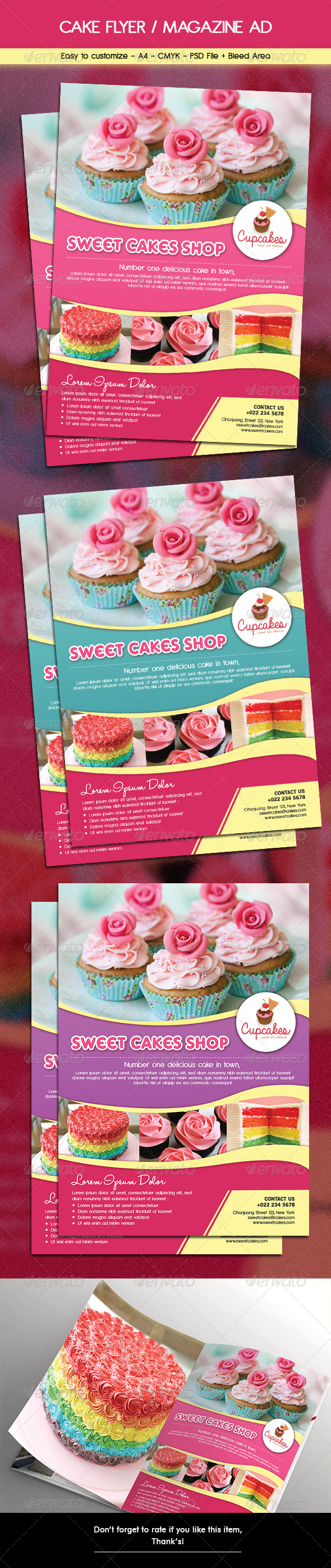 GraphicRiver Cake Flyer Magazine Ad 6463549