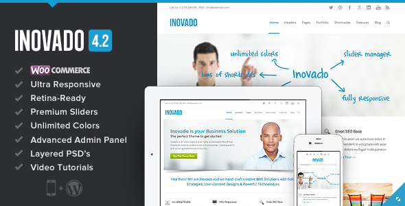 Theme de WordPress Corporativo Inovado