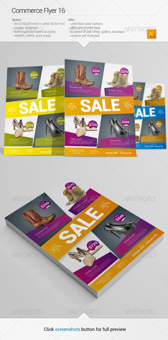 GraphicRiver Commerce Flyer 16 6464089
