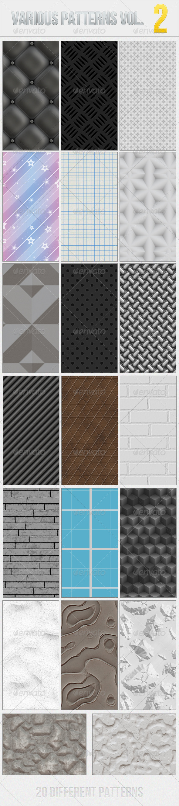 GraphicRiver Various Patterns Vol.2 6464118