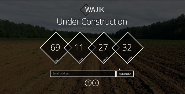 ThemeForest WAJIK Responsive Coming Soon Page 6464219