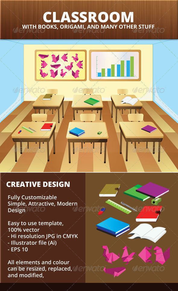 GraphicRiver Classroom Vector Background 6461075