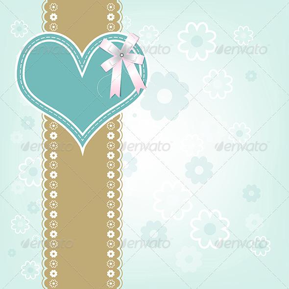 GraphicRiver Retro Heart Design Background 6464700