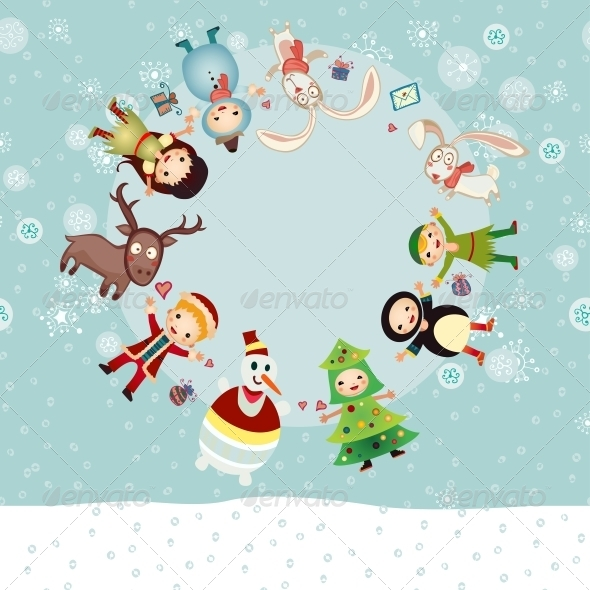 GraphicRiver Christmas Circle 6464836