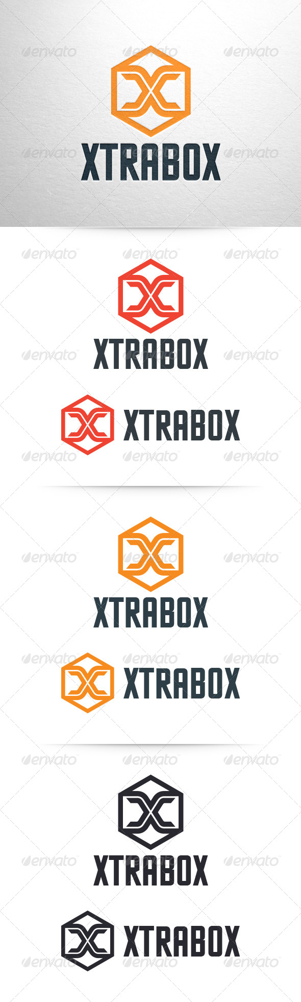 GraphicRiver Xtrabox Letter X Logo Template 6464907