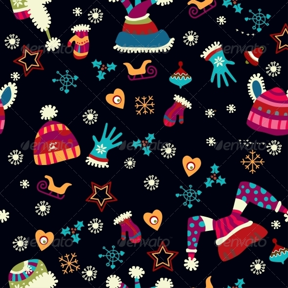 Bright Pattern with Christmas Toys