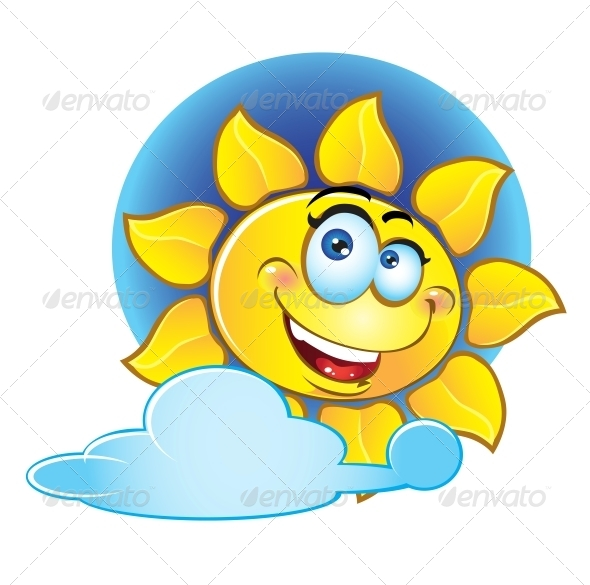 GraphicRiver Smiling Yellow Sun 6464975